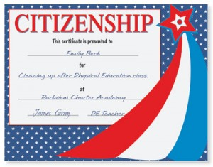 Citizenship Award Casual Certificates by PaperDirect