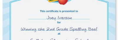 Academic Award Casual Certificates