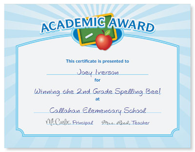 Inexpensive certificate awards for any occasion paperdirect blog academic award casual certificates yelopaper Choice Image