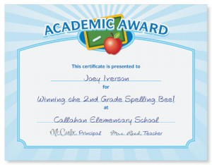 Academic Award Casual Certificates