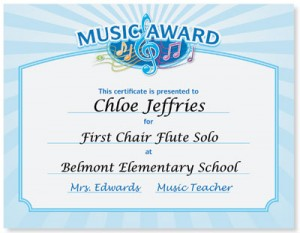 Reward your future rock stars with music award certificates music award casual certificates if yelopaper Image collections