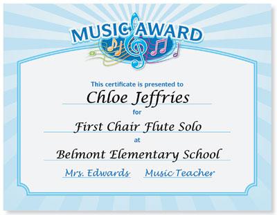 Free Music Certificate Templates Mandegarfo