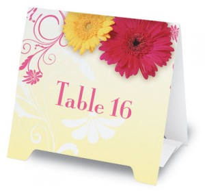Dancing Daisies Table Tents by PaperDirect