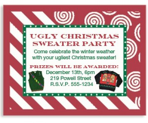 candy cane lane holiday postcards by paperdirect overall ugliest christmas sweater at the party award