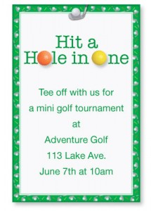 Team building how to throw a mini golf masters tournament chip shot golf invitations by paperdirect stopboris Gallery
