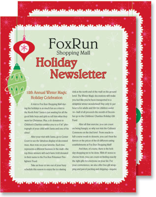 christmas fantasy newsletters by paperdirect - Newsletter Ideas