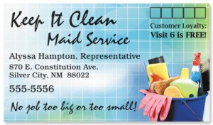 Cleaning Supplies Business Cards by PaperDirect