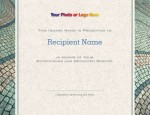 Cobble Stone Modern Certificates by PaperDirect