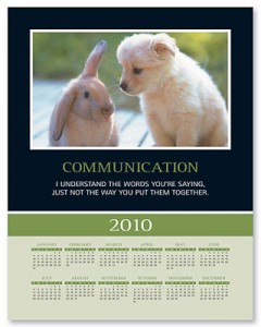 Communication Calendar