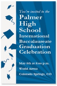 Congrats Grad Blue Invitation