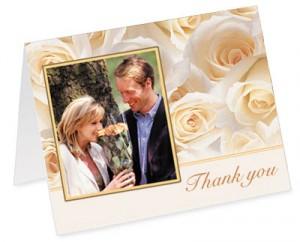 Cream Roses Photo Notecard