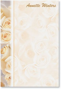 Cream Roses Post it Notes