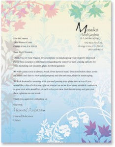 Fresh Petals Letterhead Papers