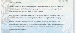 Fresh Petals Letterhead Papers