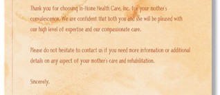 Health Care Letterhead