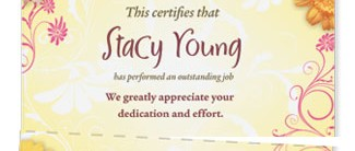Dancing Daisies Lettertop Certificates by PaperDirect