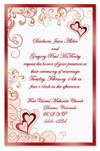 send heart invitations