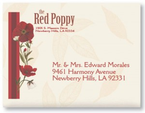 Red Poppies Envelopes by PaperDirect