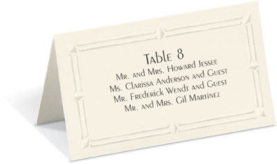 Place Cards For Weddings Table Wedding