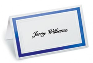 Pristine Specialty Folded Place Cards by PaperDirect