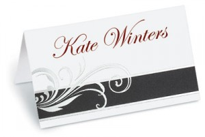 Stylish Folded Place Cards