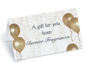 Gold Balloons Folded Place Cards