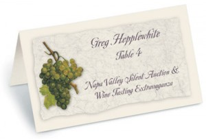 Wine Tasting Folded Place Cards