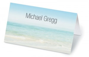 Seashore Scene Folded Place Cards by PaperDirect