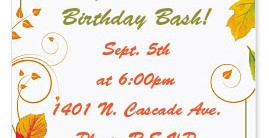 Fall Freshness Casual Invitations