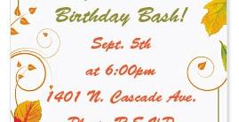 Fall Freshness Casual Invitations
