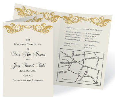 How to put a map on your wedding invitations paperdirect blog famous program paper by paperdirect stopboris Choice Image