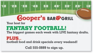 Fantasy Football Vinyl Banner by PaperDirect