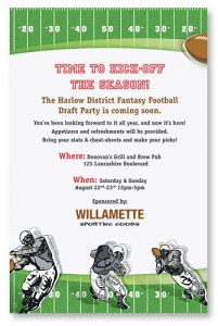 fantasy football invitation when