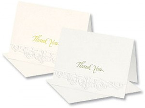 Formal Embossed Notecards