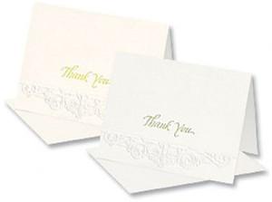Formal Embossed Notecards