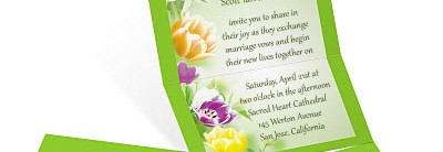 Fresh Tulips Fold Up Invitations