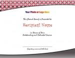 Fretwork Modern Certificates by PaperDirect