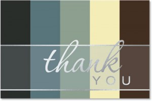 professional thank you card template