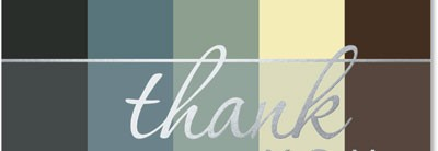 Classic Thank You Greeting Card Set