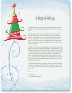 Sample business christmas letters for your first go around glee tree border papers by paperdirect m4hsunfo Image collections