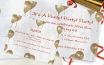 Gold Balloons Postcards by PaperDirect