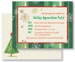 Gold Flakes Holiday Postcards by PaperDirect