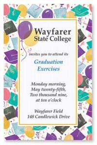 Graduation Celebration Casual Invitation