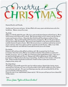 holiday newsletters on high quality christmas border paper - Christmas Newsletter Ideas