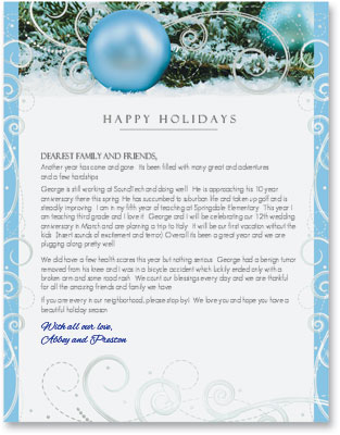 Holiday Newsletters On High Quality Christmas Border Paper