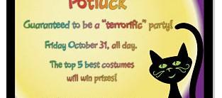 Black Magic Halloween Postcard Invitations