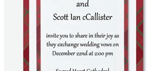 Highland Tradition Designed Layered Invitations by PaperDirect