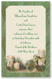 Peaceful Pine Layered Invitations