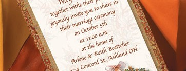 Autumn Adornment Layered Invitations