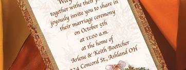 Autumn Adornment Layered Invitations